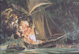 Attack of the Gaspee as the start of the American Revolution